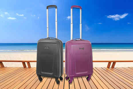 Luggage Travel Bags - Lightweight four wheel cabin luggage case choose from two colours - Save 50%