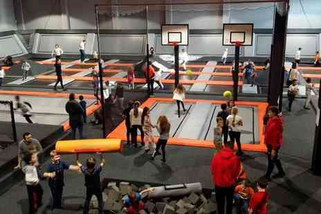 UK Jump City - One hour session at a trampoline park for one or two - Save 29%
