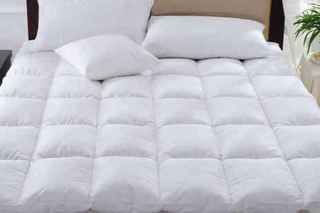Groundlevel - Single, double, king or super king size bounceback mattress topper - Save 75%