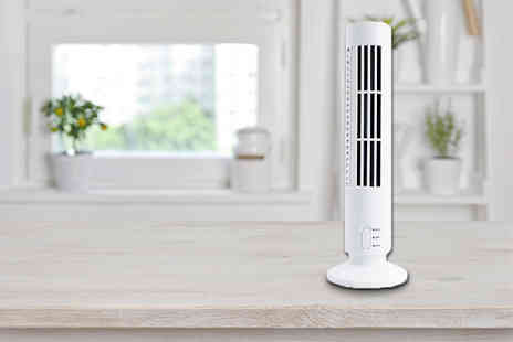 ViVo Technologies - Two speed USB tower fan - Save 67%