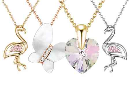 Neverland Sales - One or Two Neverland Sales Pendant Necklaces with Crystals from Swarovski With Free Delivery - Save 71%