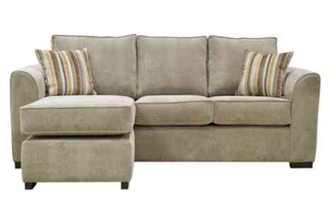 Groupon Goods Global GmbH - Lola Chaise Sofa in Choice of Colour With Free Delivery - Save 66%