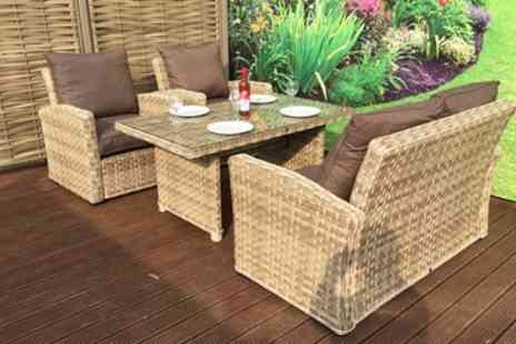 Groupon Goods Global GmbH - Grace Two Seater Dining Sofa Set With Free Delivery - Save 0%