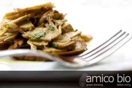 Amico Bio - Two Course Vegetarian Italian Meal for Two With Glass of Prosecco Each - Save 58%