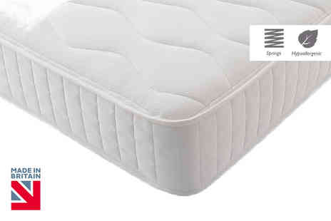 My Mattress Online - Hypoallergenic quilted Bonnell memory spring mattress Plus Delivery Included - Save 84%