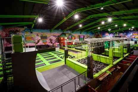 Flip Out Brent Cross - One or Two Hour Trampoline Park Access for Up to Four - Save 29%