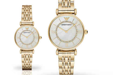 Gray Kingdom - Ladies AR1907 gold Emporio Armani watch - Save 63%