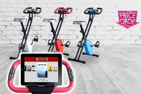 Vivo Technologies - Foldable exercise bike with an iPad holder choose from three colours - Save 68%