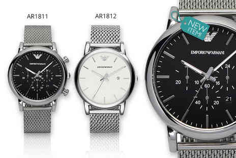 Class Watches - Mens Emporio Armani watch choose from two styles - Save 68%