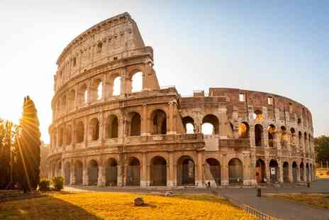 Tour Center - Two or three night Rome break including return flights, breakfast and a glass of wine each upon arrival - Save 53%