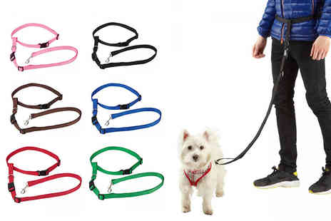 LaRoc - Handsfree dog waist lead choose from three sizes and six colours - Save 38%