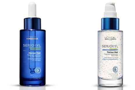 Groupon Goods Global GmbH - Loreal Serioxyl Thicker or Denser Hair Serum 90ml - Save 76%