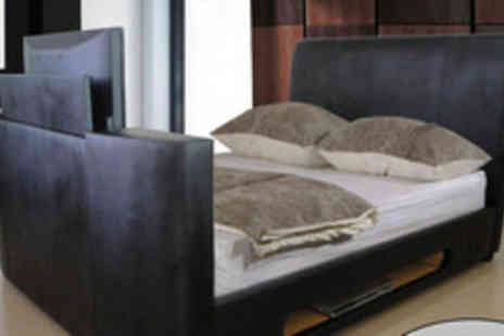 Gadgets & Products - £849 instead of £1599.99 for a faux leather double TV bedstead inc. a 22  TV DVD system - Save 47%