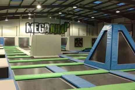 Mega Jump - Trampoline Park Access for Up to Four People - Save 32%