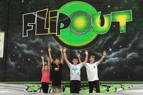 Flip Out - Trampoline Jumping Session for One or Four - Save 33%