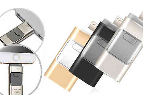Goods Direct - iFlash Drive For iPhone or iPad in 3 Colours - Save 76%