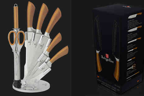 Goods Direct - Berlinger Haus 8 Piece Knife Set in 4 Colours - Save 0%