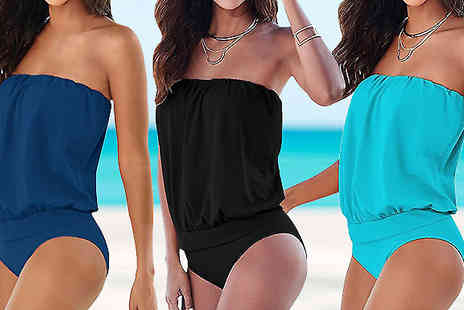 Bazaar me - Womens Bandeau Swimsuit in 3 Colours - Save 80%