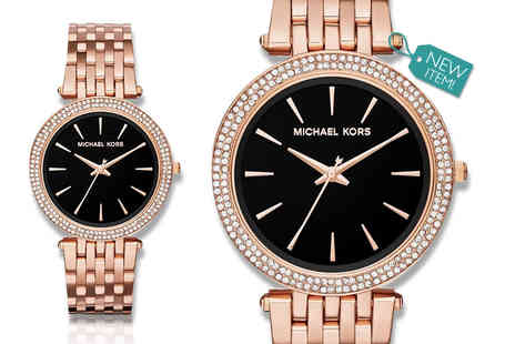 Gray Kingdom - Ladies Michael Kors Darci MK340 watch in rose gold and black - Save 50%