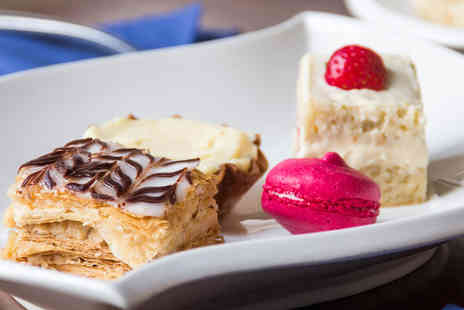 Le Chalet - Cafe gourmand for two including miniature cakes, macaroons and a choice of hot drink each - Save 46%
