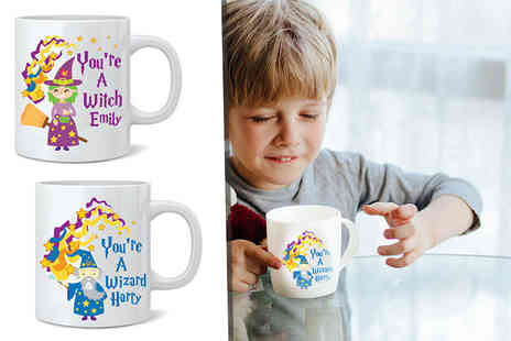 Deco Matters - Personalised kids witch or wizard mug - Save 62%