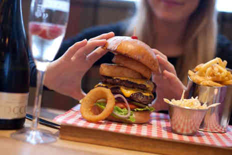 Tribeca West End - Speciality burger and fries for two or include a glass of wine or beer each - Save 53%