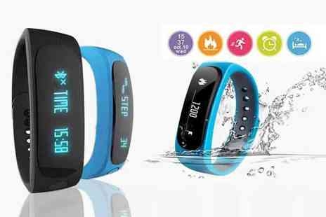 TLD Marketing - 12 in 1 Bluetooth fitness tracker choose from black and blue - Save 91%