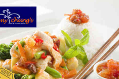 Jimmy Chung Chinese - £15.97 instead of up to £43.98 for an all you can eat 3 course buffet for 2 - Save 64%