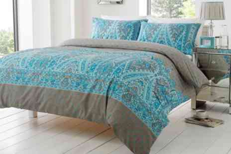 Groupon Goods Global GmbH - Kensington Paisley Duvet Sets in Choice of Colour and Size - Save 63%