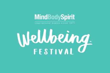 Mind Body Spirit - Two One Day Adult Tickets to Mind Body Spirit Festival on 3 to 5 November - Save 34%