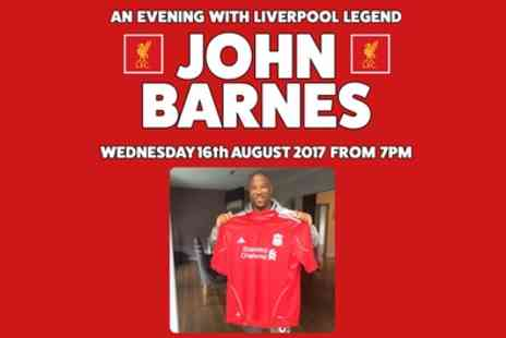 Lashings Sports Bar & Restaurant - An Evening with John Barnes on 16 August - Save 32%