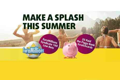 Lottoland - 20 scratchcards, 2 mini lotto draws and 160 EuroMillions syndicate line bets - Save 59%