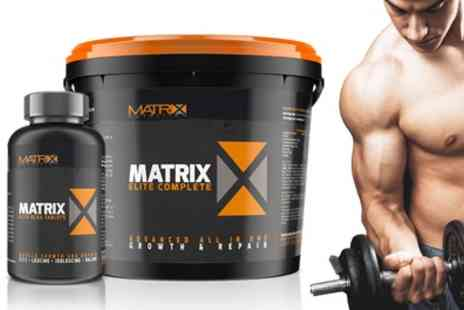 Groupon Goods Global GmbH - Matrix BCAA and All in One Complete 60% Protein Powder - Save 71%