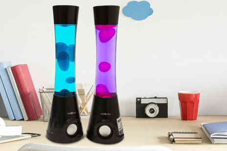 Ckent - Lava lamp bluetooth speaker in blue or pink - Save 29%