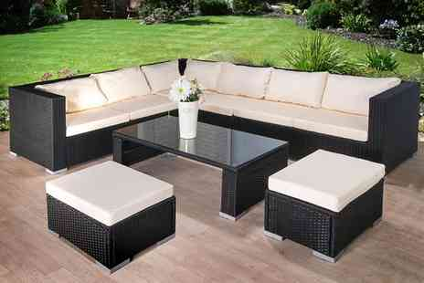 Giomani Designs - Nine piece rattan corner sofa set - Save 73%