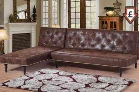 Groupon Goods Global GmbH - Charles Victorian Premium Faux Leather Sofa Bed or Chaise Lounge With Free Delivery - Save 27%
