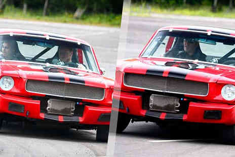 into the blue - 1, 3 or 6-Lap 1965 Ford Mustang Driving Experience at 7 UK Locations - Save 0%