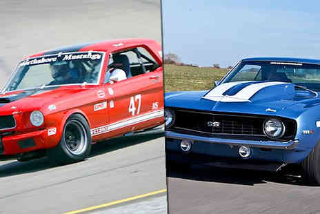 into the blue - 1, 3 or 6 Laps in 1 or 3 Classic American Cars at 7 Locations - Save 0%