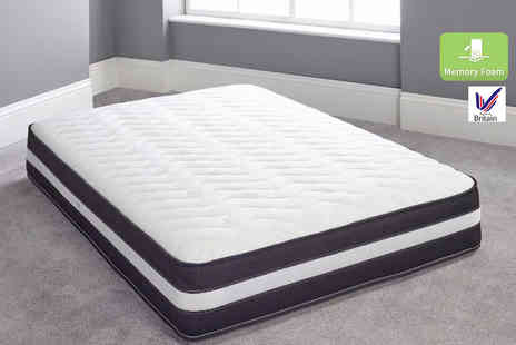 Cheap Mattresses - Single, double, king or super king size bonnell spring and memory foam 7500 mattress - Save 70%