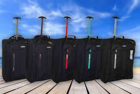 Pearl Info - Cabin approved wheelie hand luggage choose from five colours - Save 81%