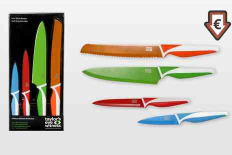 Groupon Goods Global GmbH - Taylor Eye Witness Four Piece Kitchen Knife Set - Save 64%