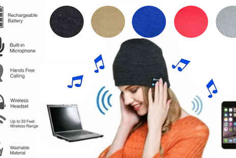 H&C Electronics - Bluetooth Beanie Hat Available in 5 Colours - Save 85%