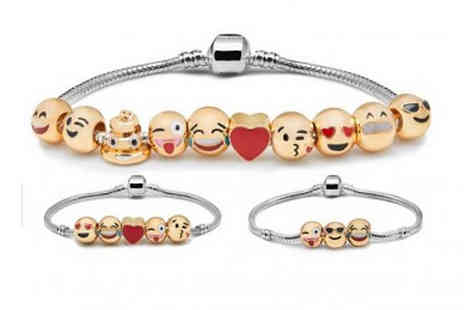 Hawt Online - 18K Yellow Gold Plated Beaded Emoji Bracelet - Save 83%