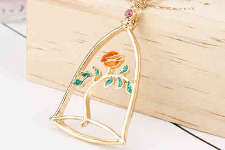 Your Ideal Gift - Enchanted Rose Crystal Pendant - Save 76%