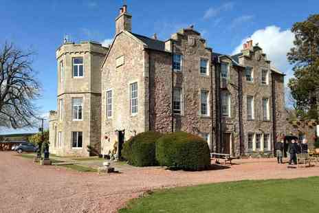 Shieldhill Castle - One or two night Biggar, Scotland stay for two including late check out, breakfast and two course dinner - Save 45%