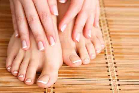 Dahlia Hair and Beauty - Shellac nails on the hand OR feet with file and polish, £19 for both at Dahlia Hair and Beauty, Forest Hill - save up to 52% - Save 52%