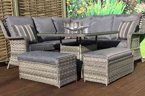 Groupon Goods Global GmbH - Mary Dining Sofa Set With Free Delivery - Save 0%