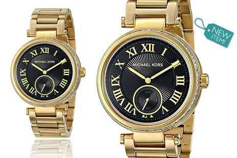 Gray Kingdom - Michael Kors gold plated Skylar MK5989 watch - Save 50%