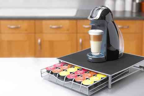 Groupon Goods Global GmbH - Coffee Machine Stand and Pod Drawer for Dolce Gusto and Nespresso - Save 80%