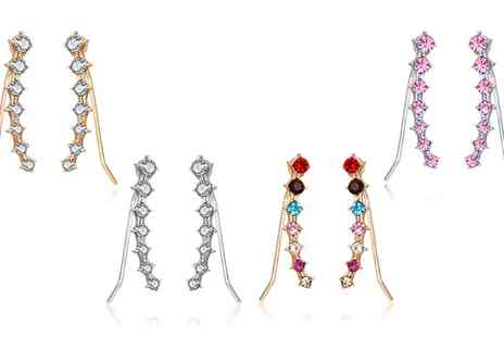 Groupon Goods Global GmbH - Set of Four, Eight or Twelve Earrings - Save 83%